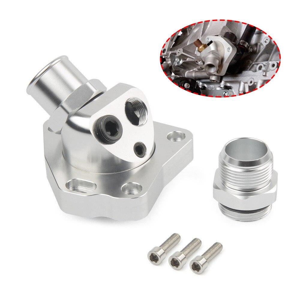 Термостат для охлаждения двигателя автомобиля, термостат, корпус на выходе воды, подходит для Honda Accord K Series K20 K24 Silver
