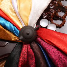 Tissu en brocart de Satin de chine, tissu Jacquard en Polyester pour couture robe de soirée, tissu de mariage JA25