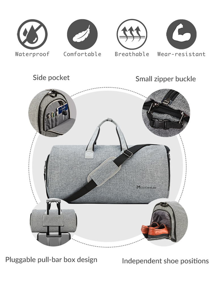 Modoker Hanging-Clothing Duffel-Bag Carry-On Shoulder-Strap Business High-Quality New