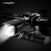 Easydo StVZO Zertifizierung Fahrrad Licht Professionelle MTB Rennrad Scheinwerfer Wasserdichte USB Lade LED Front Lampe Power Bank