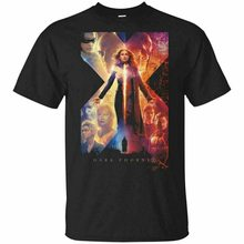 Xmen Dark Phoenix Poster Movie Film 2019 Xmen Tshirt Blacknavy Menswomens Funny Design Tee Shirt(China)