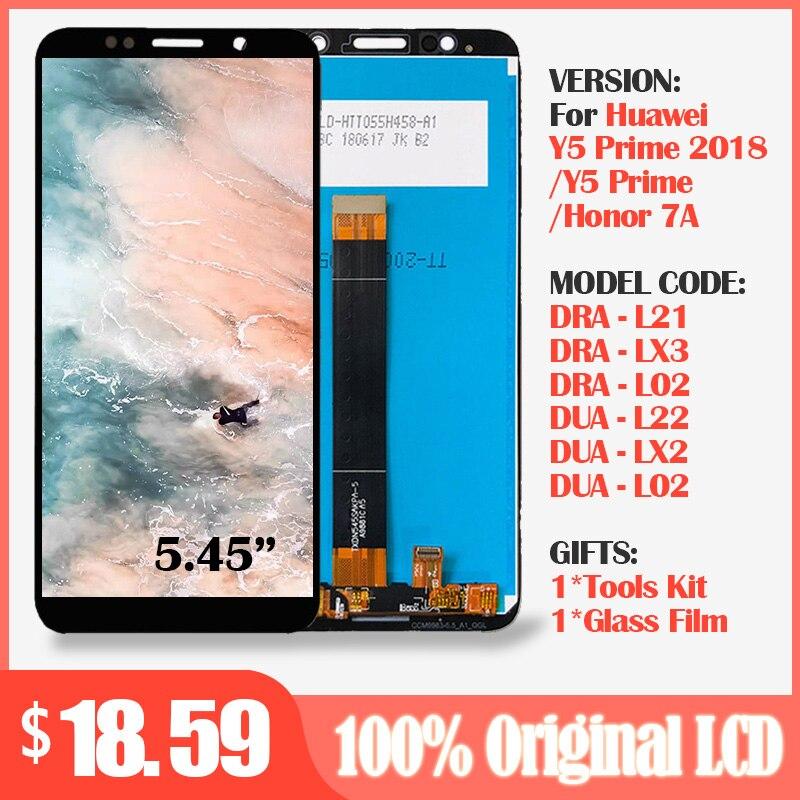 Оригинальный ЖК дисплей и сенсорный экран для Honor 7A, для Huawei Honor 7A DUA L02 L22 LX2, ЖК экран Y5 Prime 2018, ЖК экран DRA L21 LX3|Экраны для мобильных телефонов| | АлиЭкспресс