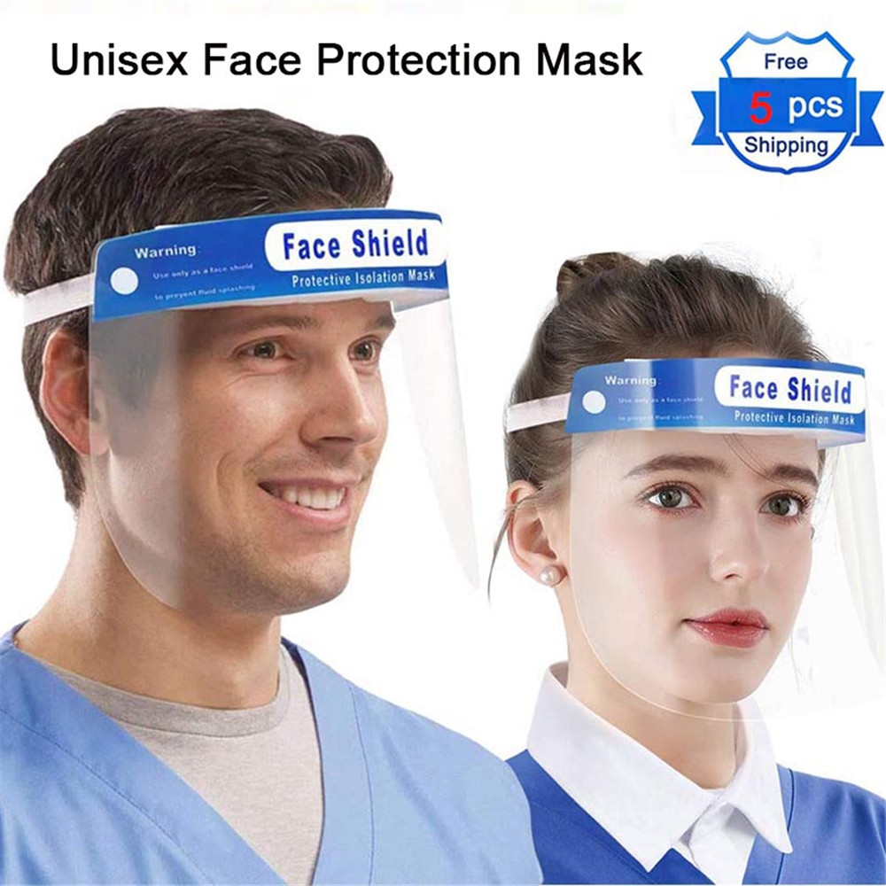 5Pcs Unisex Transparent Oil Splash Proof Windproof Safety Anti-UV Anti-shock Hat