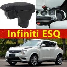 Per Infiniti ESQ box bracciolo auto universale center console caja accessori di modifica del doppio sollevato con USB Nessuna installazione