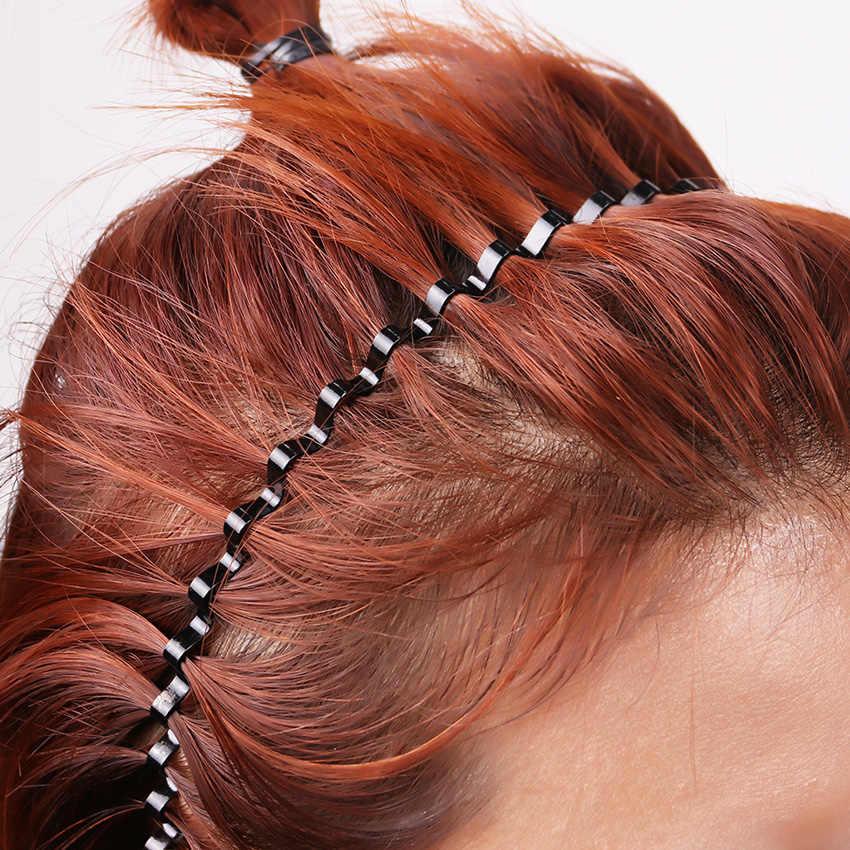 Moda mężczyźni i kobiety czarne faliste włosy opaska na głowę pasek Unisex sportowa opaska na głowę akcesoria do włosów prezent dla Student 1PC