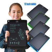 Lcd tablet de escrita 12 polegada digital desenho eletrônico almofada escrita mensagem placa gráfica crianças escrita dropshipping