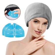 Chapeau de glace pour soulager les maux de tête, le Stress, la douleur, avec perle de Gel, pour la Migraine, thérapie par le froid et chaud