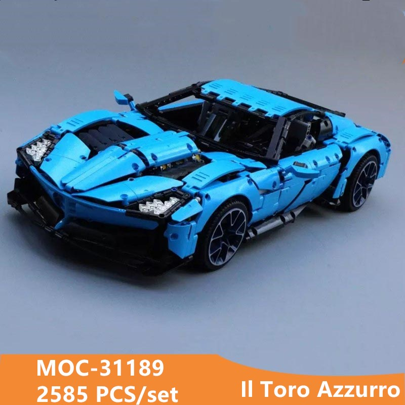 Nuevo moc Il Toro Azzurro MOC-31189 Kit de juguete de bloques de construcción DIY arte decoración niños educativos regalo de cumpleaños