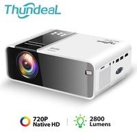 ThundeaL TD90 Native 720P проектор Android WiFi Bluetooth проектор 3D видео кино Вечеринка Мини проектор портативный домашний кинотеатр