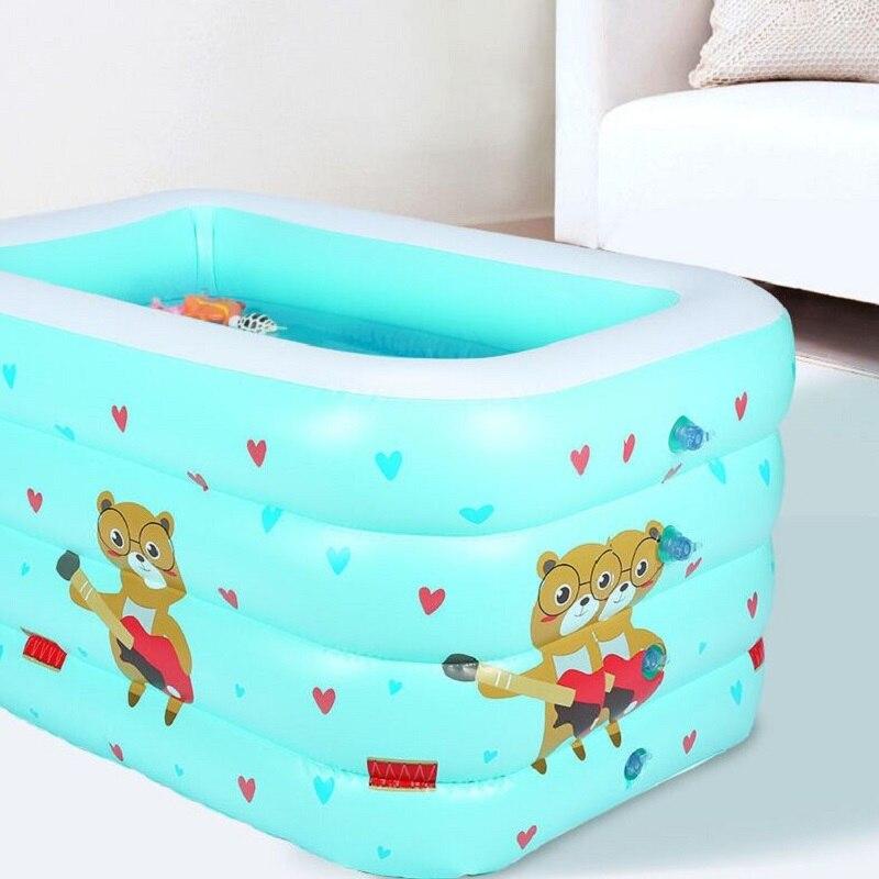 Kids Pool Bathtub Family Baby Ocean Ball Pool Baby Swimming Ring Pool Inflatable Toy