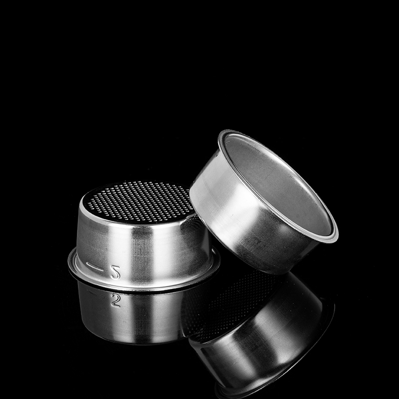 High Pressure Breville Delonghi Krups Coffee Machine Filter Porous Accessories Double Cup Stainless Steel Single Layer 51mm 2Cup