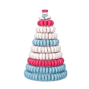 Image 3 - 10 Tier wieża Macaron Macaron stojak okrągła do ciasta stojak pcv taca urodziny ślub stojak wystawowy ciasto dekorowanie narzędzia