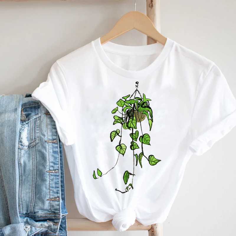 Women Printing Cactus Plant Trend Casual Summer Spring 90s Style Fashion Clothes Print Tee Top Tshirt Female Graphic T-shirt 5