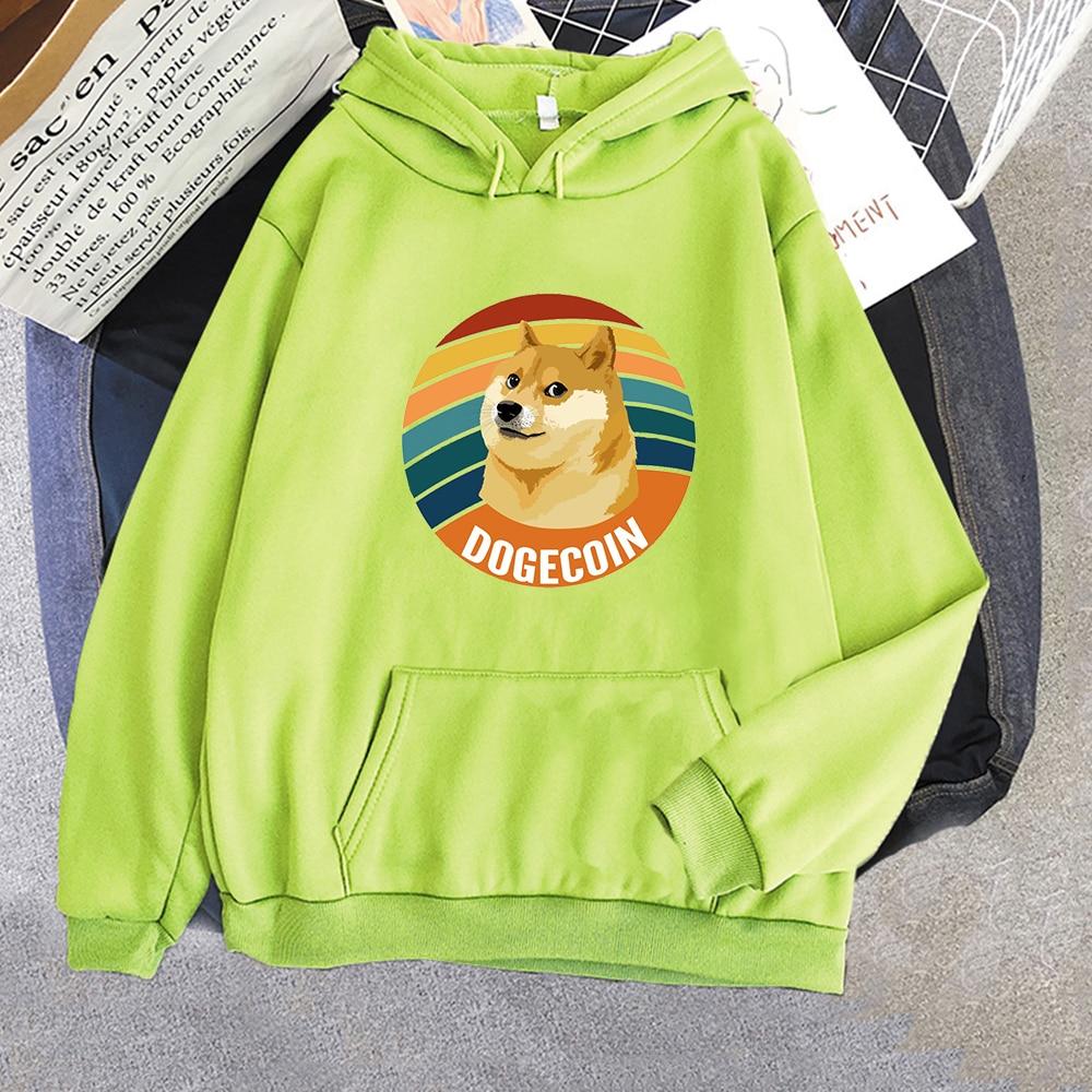 Harajuku Crewneck Sweatshirt Bitcoin Cryptocurrency Art Dogecoin Hoodie Women Anime Long Sleeve Sportswear Men Tops kpop Clothes 1