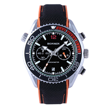 Classic fashion men's business nylon strap watch watches for