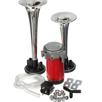 цена на 12V Super Loud Dual Trumpet Motorcycle Air Horn Compressor Kit For Motorcycle Dual Trumpet Air Horn r26