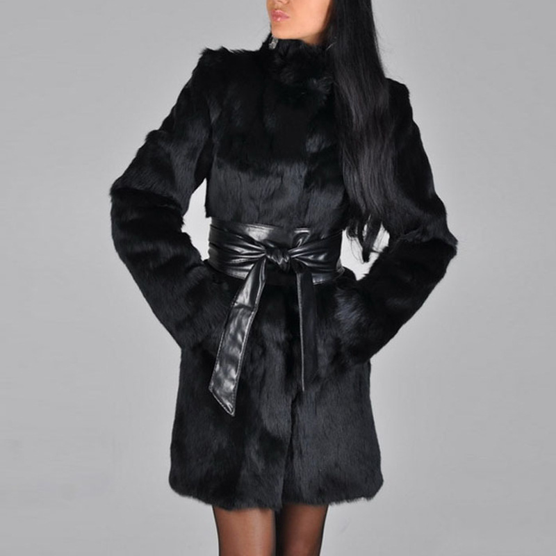 Europe And The United States Autumn And Winter Women's Haining Fur Mink Coat Fox Fur Coat Long Faux Fur Faux Jacket Winter Coat