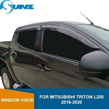 Window Shield For Mitsubishi Triton L200 2016 2017 2018 2019 2020 Acrylic Black Side Window Deflectors Sun Rain Guards SUNZ window visor for buick encore 2013 2018 side window deflectors rain guards for buick encore 2013 2014 2015 2016 2017 2018 sunz