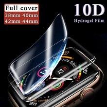 Para el Apple Watch y el Protector de pantalla Watch 1 2 3 4 5 iwatch hidrogel de película 38mm 40mm 42mm 44mm Protector impermeable película de la cubierta completa