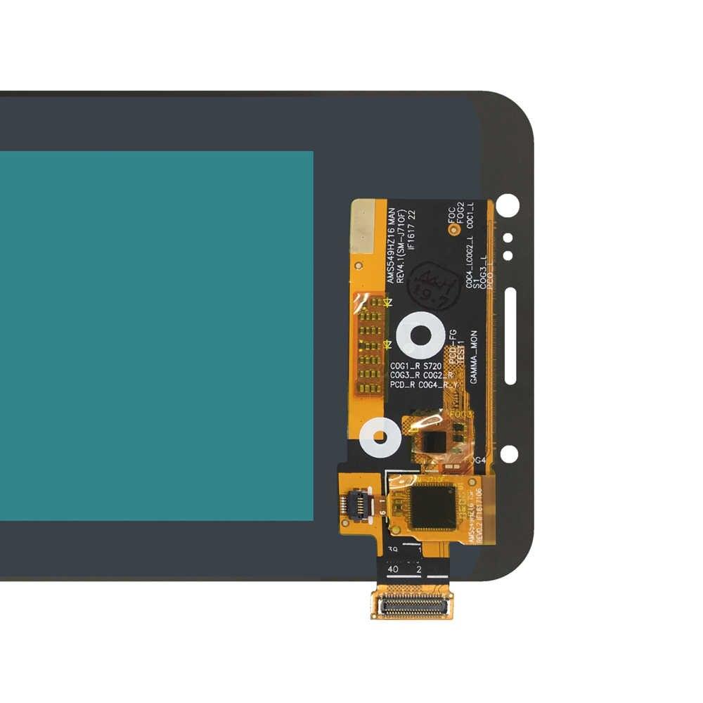 สำหรับ Samsung Galaxy J7 2016 J710 J710F J710FN J710M J710Y จอแสดงผล LCD Touch Digitizer Amoled LCD