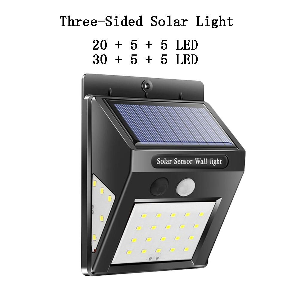 Set of 4 LED Solar Powered PIR Motion Sensor Security Wall Light Outdoor Garden