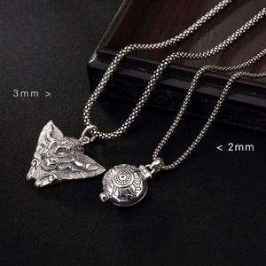 Image 5 - Real Silver Necklace Men Women Thai Silver Corn Necklace Male s925 Sterling Silver Long Chain Retro Pendant Necklace Jewelry