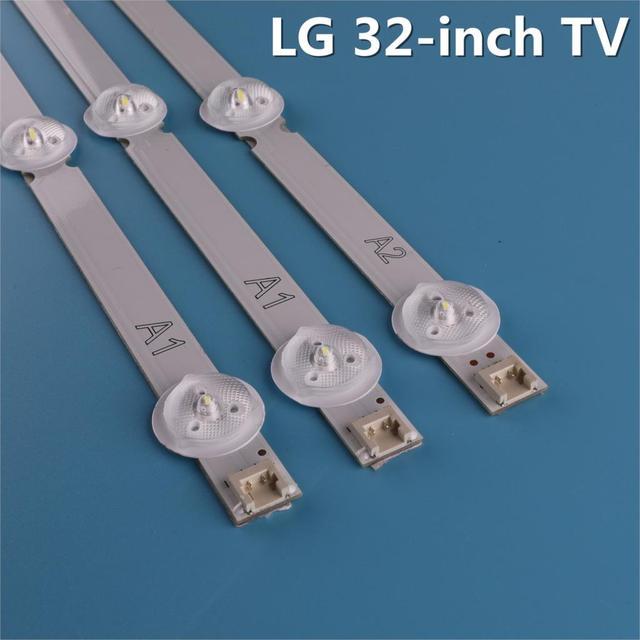 "3pcs(2A1*7LED,1A2 * 8LED)LED תאורה אחורית בר עבור LG 32 ""ROW2.1 Rev 0.9 A1/A2 Type טלוויזיה LC320DXE 6916L 1295A 1296A 32LN575s LC320DXE SG"