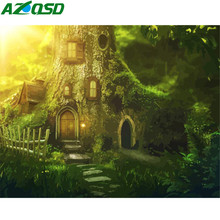 AZQSD DIY Full Kits Oil Painting By Numbers Forest Acrylic Paint For Adults Paint By Numbers Landscape Home Decoration 50x40cm(China)