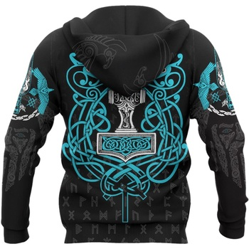 3D All Over Printed Raven And Odin Men hoodies Viking Tattoo Harajuku Fashion Hooded Sweatshirt Unisex hoodie Drop ship H029 2