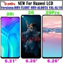 % 100% test edilmiş Huawei onur için 20 LCD ekran ekran dokunmatik panel sayısallaştırıcı değiştirme için Huawei onur 20 Pro LCD onur 20i LCD