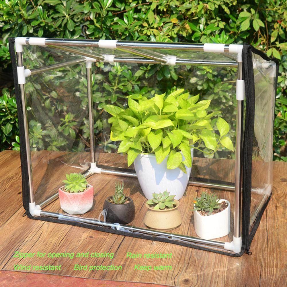 HiFuture Mini Greenhouse Small Garden Plant Tent Small Portable Garden Cover PVC Indoor Outdoor Plants Cover Flower Vegetables Shelter With Zipper Doors For Garden Outdoor Backyard