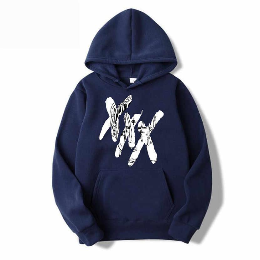 새로운 패션 xxxtentacion 복수 후드 남성/여성 스웨터 랩퍼 힙합 후드 풀오버 스웨터 남성/여성 의류