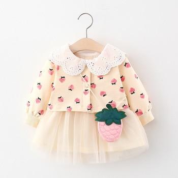 Осень 2020, платье для маленьких девочек, одежда, платья принцессы с длинным рукавом, повседневные платья для маленьких девочек, одежда на день рождения