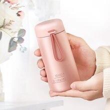 Мини Розовый термо Портативный живот чашка 270 мл милые девушки