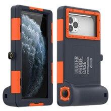 Lặn Chuyên Nghiệp Dành Cho iPhone 11 Pro Max X XR XS Max Ốp Lưng 15 Mét Chống Nước Độ Sâu Cho iPhone 6 6S 7 8 Plus Coque