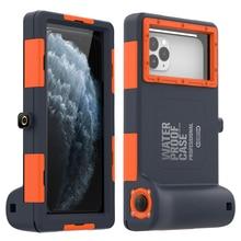 Profissional caso de mergulho para iphone 11 pro max x xr xs max caso 15 metros à prova dwaterproof água profundidade capa para iphone 6s 7 8 mais coque
