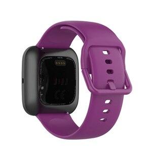 Image 3 - solid color Wristband for Fitbit versa 2 /versa lite smart watch accessories band adjustable strap soft waterproof bracelet belt