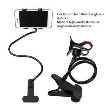 1 pieza móvil teléfono soporte perezoso de Platsic multifunción soporte Flexible cama de escritorio soporte de Clip de mesa