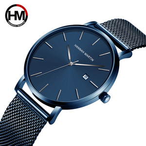 Hannah Martin, Лидирующий бренд, японский кварцевый механизм, водонепроницаемые наручные часы, модные бизнес Роскошные ультра тонкие мужские час...