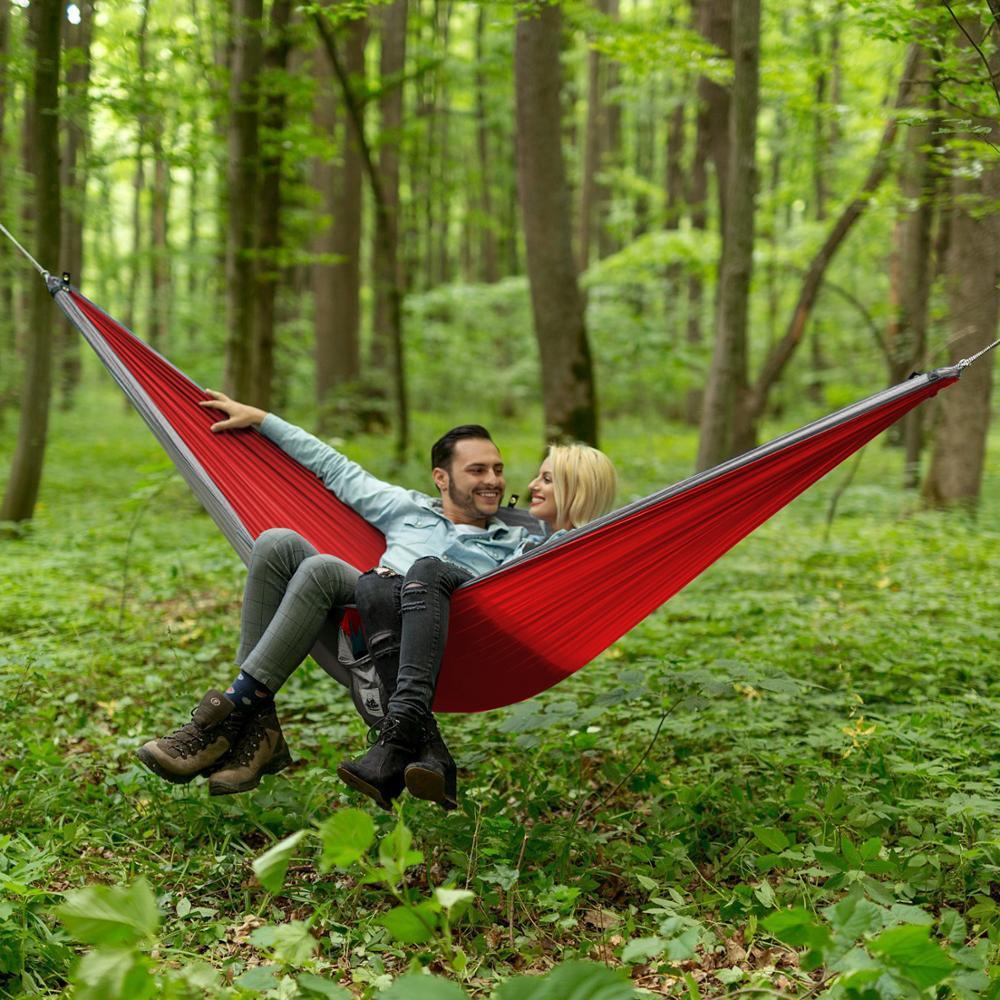 Parachute Hammock Hamak Rede Travel Nylon Portable Army Camping 1-Person Flyknit