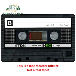 EARLFAMILY 13cm For Audio Tape Fine Decal Fashion Car Stickers Vinyl Material Occlusion Scratch Decals For JDM SUV RV