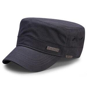 Image 3 - Spring Big Head Man Large Size Army Flat Cap Men Summer Cotton Plus Size Mesh Military Hat 55 60cm 60 65cm