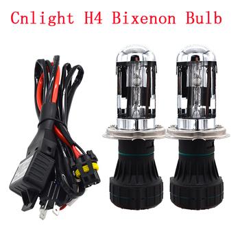 AC 35W 45W światła samochodowe Bixenon H4 Cnlight żarówki ksenonowe HID 4300K 5000K 6000K H4-3 Hi Low bi-ksenonowe żarówki z szelki przekaźnikowe drut tanie i dobre opinie KYSQAIR 12 v CN (pochodzenie) h4 xenon bulb 4300k h4 h4 hi low beam h4 bixenon bulb 45w h4 xenon kit 35w cnlight bulb cnlight hid bulb