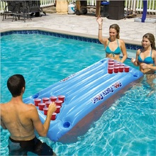 air mattress floating row PVC Inflatable cup hole float Recliner table tennis