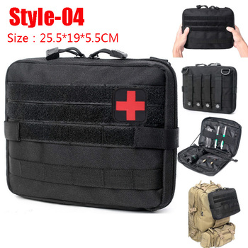Hunting Survival First Aid Bag Outdoor SOS Pouch Army Tactical Waist Bag Medical Kit Bag Molle Belt Backpack EDC Emergency Pack 5