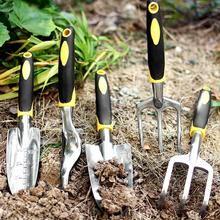 Non-slip Aluminum Alloy Flower Planting Shovel Rake Spade Fork Gardening Tools Ergonomic handle provides excellent grip Planting
