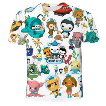 Dzieci Octonauts 3D Print t-shirty chłopcy dziewczęta nastolatki t-shirty Camiseta maluch Cartoon t-shirty z motywem Anime letnie ubrania dla dzieci tanie i dobre opinie POLIESTER CN (pochodzenie) Lato 4-6y 7-12y 12 + y Damsko-męskie Na co dzień W stylu rysunkowym REGULAR Z okrągłym kołnierzykiem