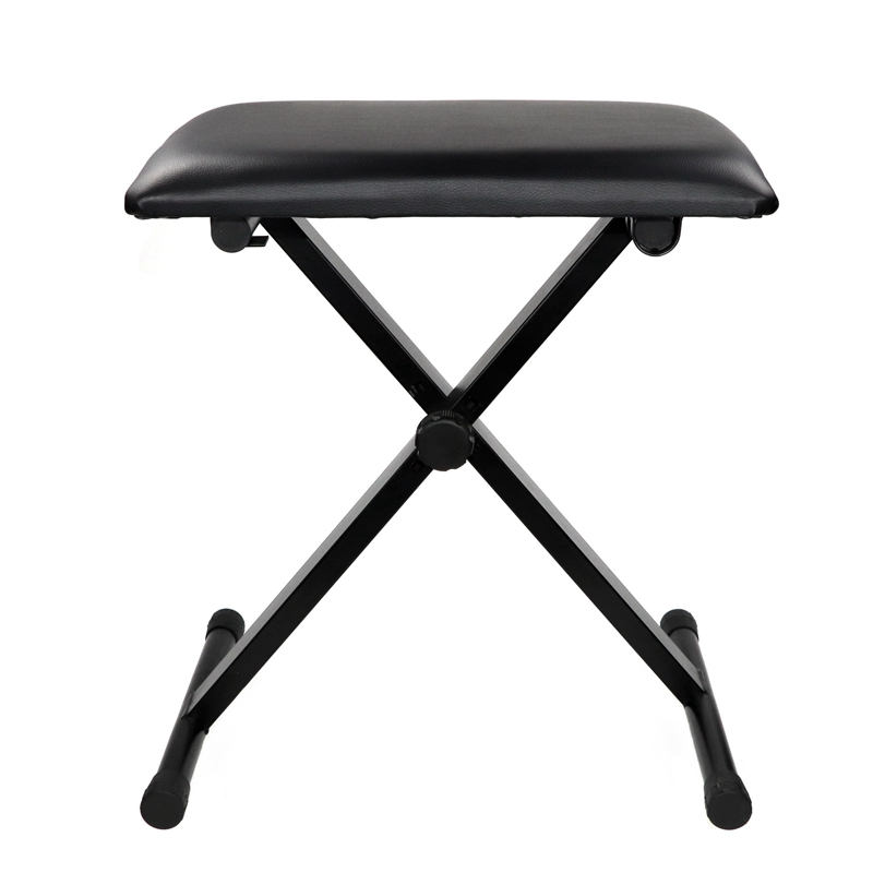 Piano Bench Adjustable Height X-Style Keyboard Bench Padded Piano Stool Folding Bench Piano