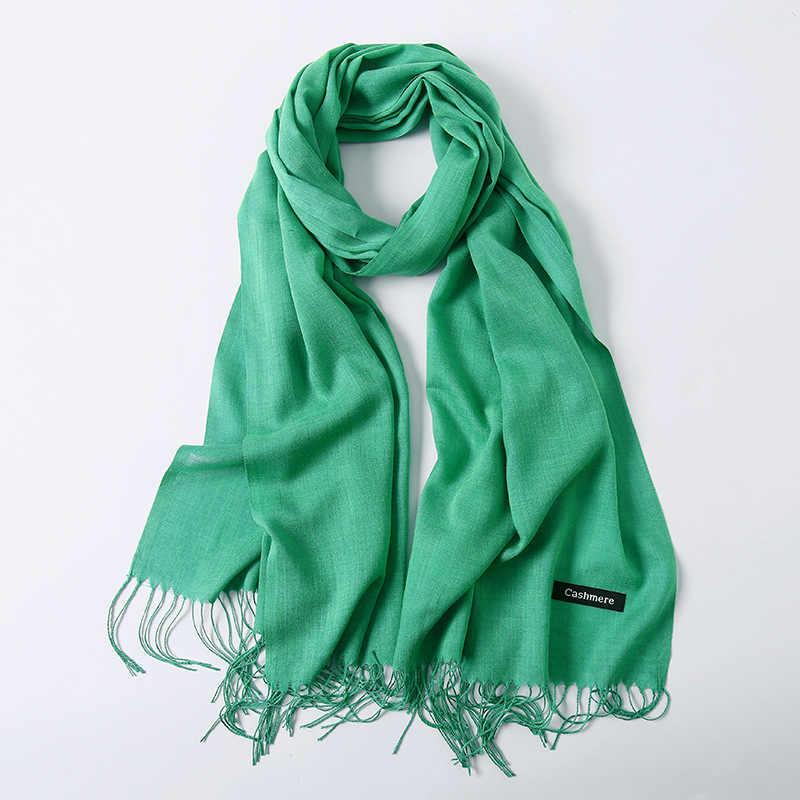 Solide Rot Rosa Dünne Winter Schal für Damen Schals und Wraps Pashmina Bandana Hals Schals Hijab Frauen Weibliche Stolen Foulard
