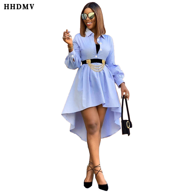 HHDMV SM9038 summer women hot sale fashion street girl style dresses long sleeve lapel contracted knee-length dresses